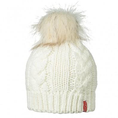 Плетена шапка бяло