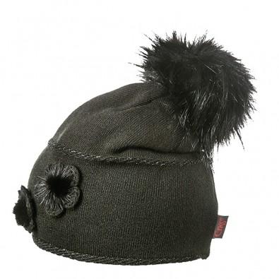 Дамска шапка с пух 603Black
