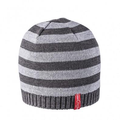 Плетена шапка райе grey